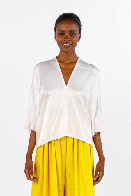 Miranda Bennett In-Stock: Muse Top, Silk Charmeuse in White
