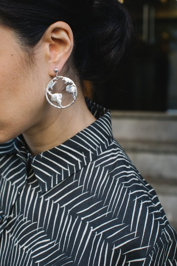 Open House Earth Earrings - Sterling Silver