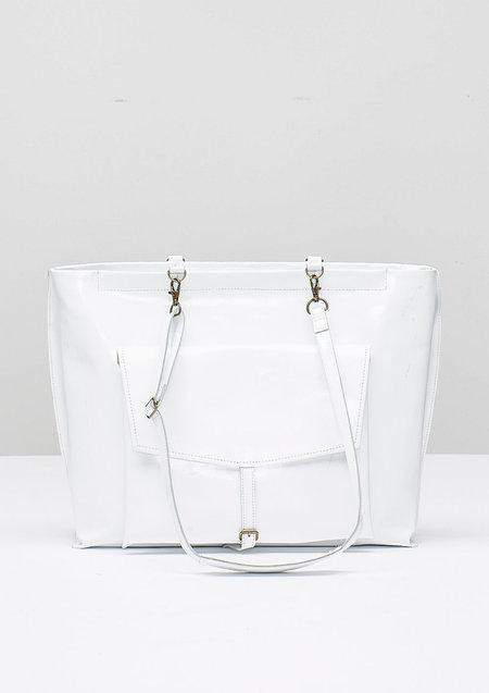 Berenik Bag Backpack Patent Leather - White