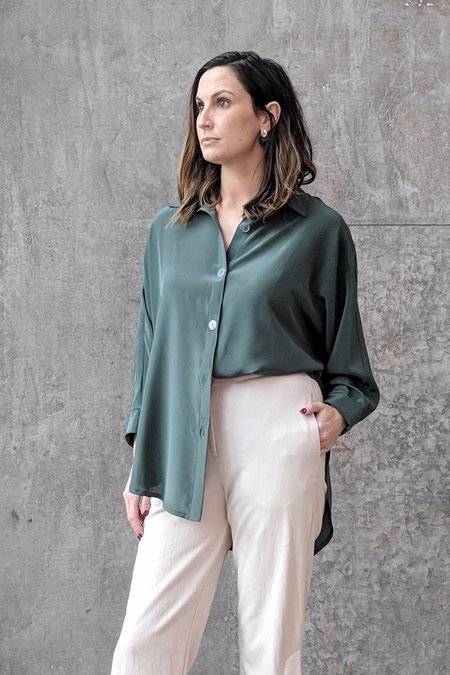 Megan Huntz Steph Blouse - Forest Silk