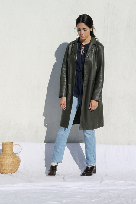 Duo NYC Vintage Leather Duster