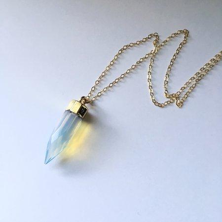 Strut Jewelry Opalite Bullet Necklace