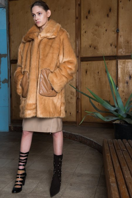Nika Tang Brown Kiana Fur Coat