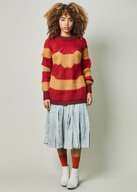 Sartoria Vico Striped Mohair Cloud Sweater