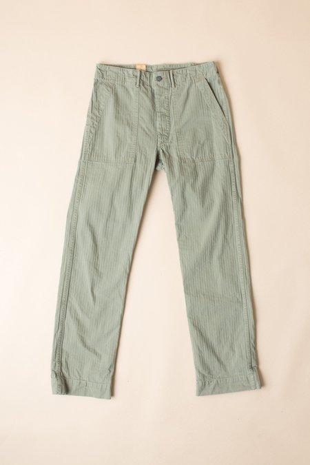 RRL Cotton Herringbone Pant In Brewster Green