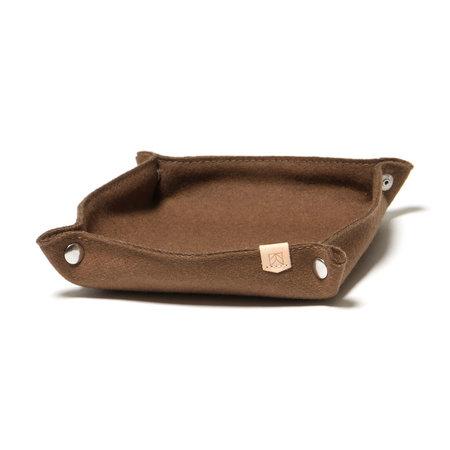 MAPLE Desk Tray Wool - Brown