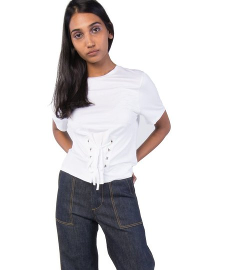 Just Female Tie Tee - White