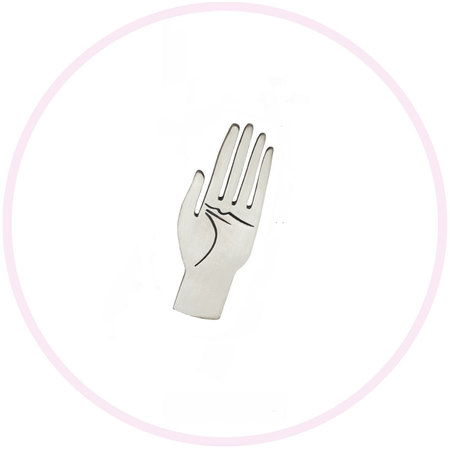 WASTED EFFORT PALMISTRY HAND BROOCH