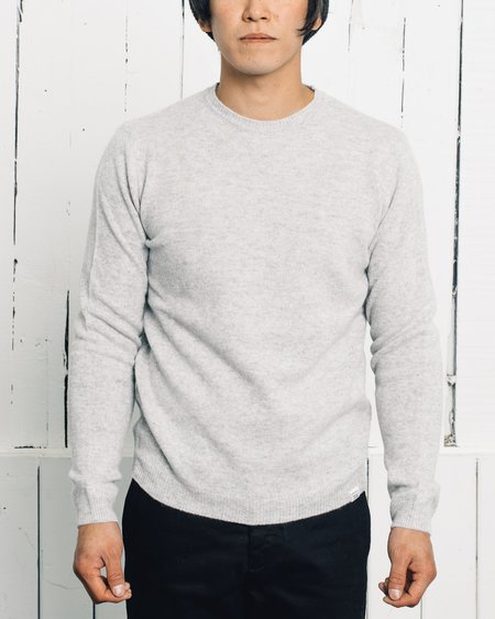 Norse Projects Sigfred Lambswool Sweater - Light Grey