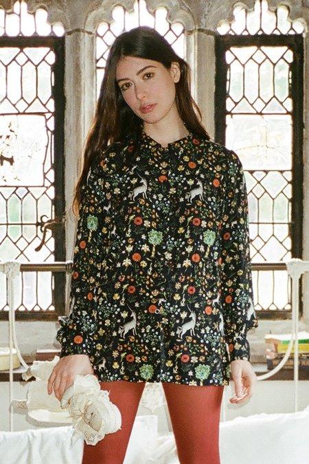 Samantha Pleet Glance Blouse - Black Illuminated