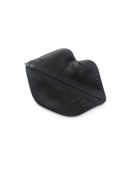 7 on Locust Small Lips Bag - Black Leather
