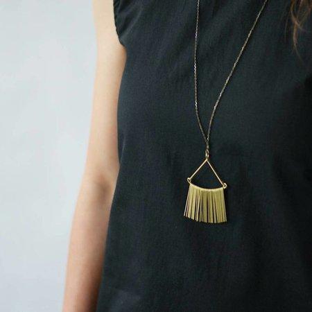 Hellbent Triangle Fringe Necklace