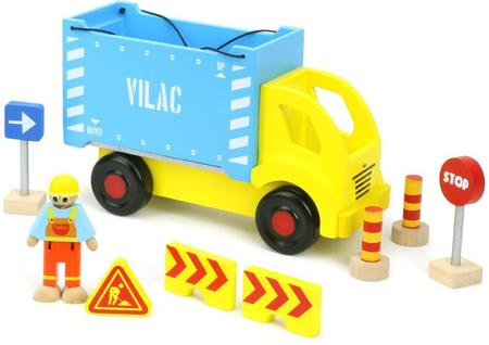 Vilac Wooden Container Truck and Accessories