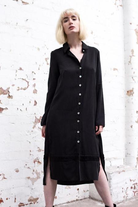 Lois Hazel Black Drift Shirt Dress