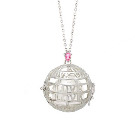 "Goyal Paris Necklace Future Moms ""LOVE"" Silver and pink Tourmaline"