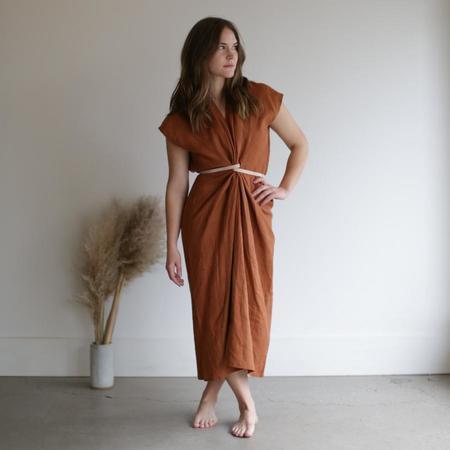 Miranda Bennett Knot Dress - Marfa Linen