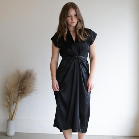 Miranda Bennett Knot Dress - Silk Charmeuse