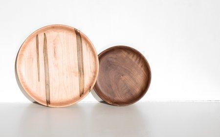 Mod Tribe Design Ambrosia Maple and Walnut Plate Set