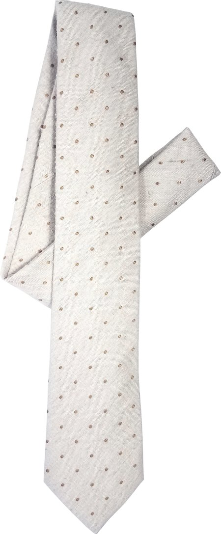 David Hart Cream Pin Dot Tie