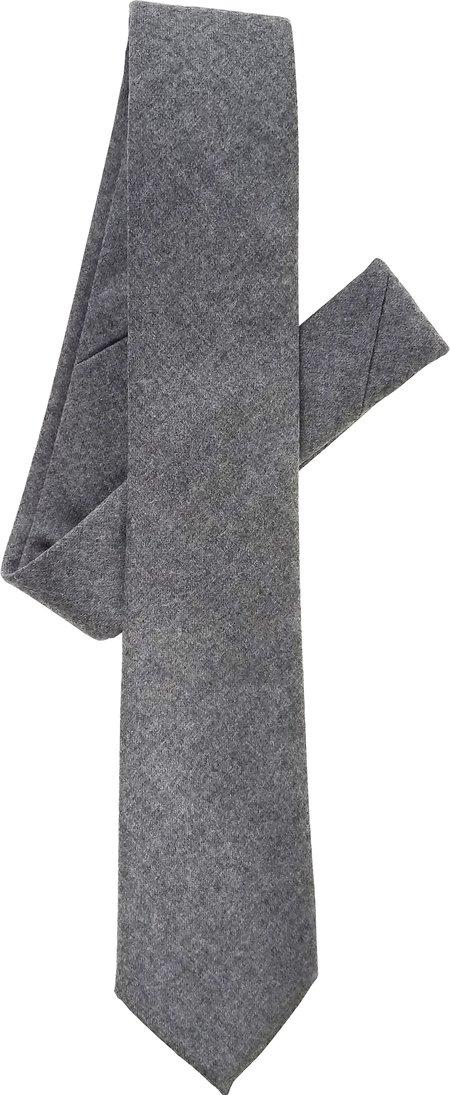 David Hart Grey Flannel Tie