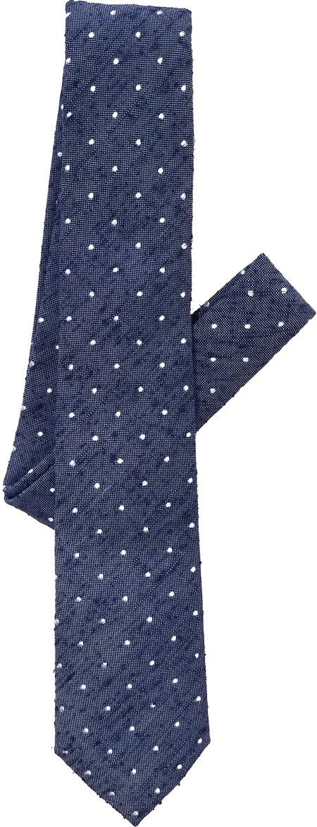David Hart Navy Pin Dot Tie