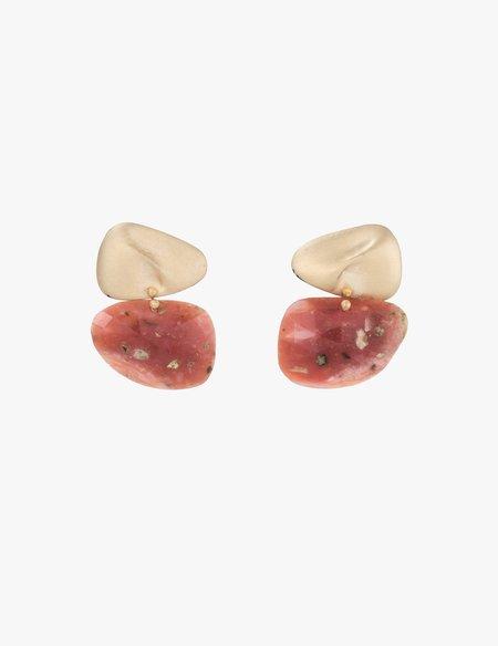 Kathryn Bentley Amorphous Pink Opal Earrings