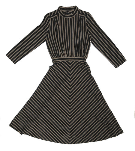 Carleen Pettway Dress - Black Stripe