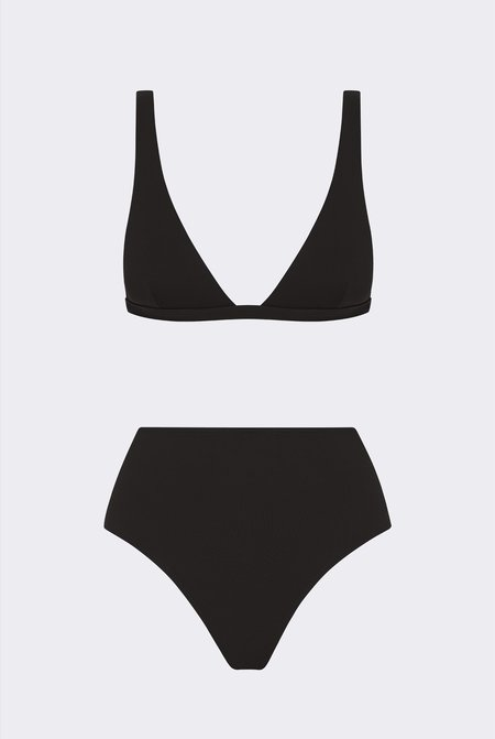 Her Line Audrey Two-piece Set - Coal Black