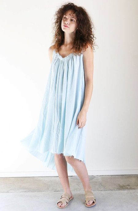 Loup Charmant Gather Shortie Dress in Sky