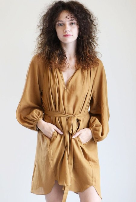Loup Charmant Peasant Tunic in Camel