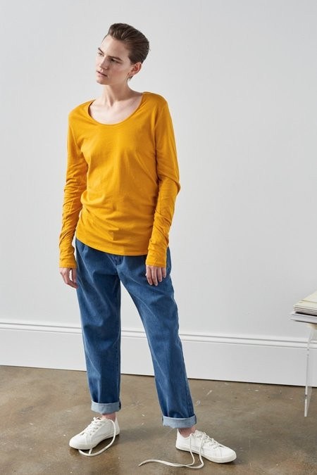 Kowtow Building Block Long Sleeve Top - Marigold