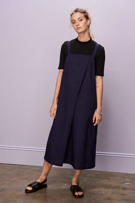 Kowtow Shadow Dress - Navy