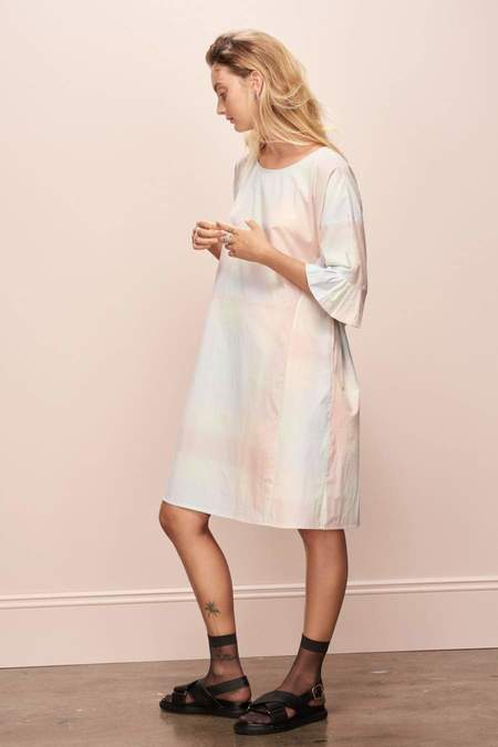Kowtow Shutter Dress - Pastel Check