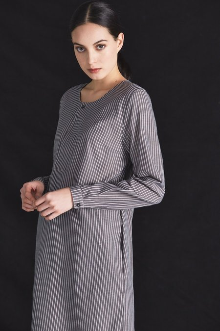 Kowtow Signal Dress - Chambray Stripe
