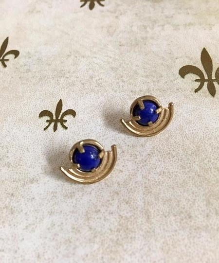 Lumafina Cetus Earrings Bronze - Lapis Lazuli