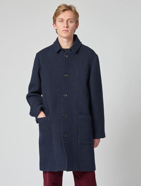 Other Jarvis Navy Wool Overcoat