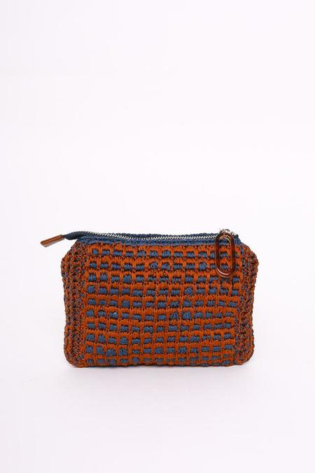 Rachel Comey Hilo Zip Pouch in Slate/Brown
