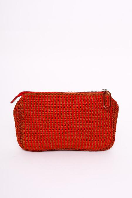 Rachel Comey Rubix Clutch in Red-Cognac