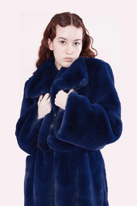 Samantha Pleet Sovereign Coat - Sapphire