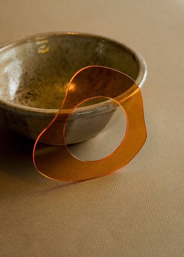 Penny Sage Zelda Murray Perspex Bangle - Orange