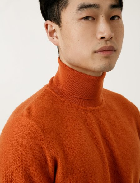 Norse Projects Mens Marius Brushed Structure  - Ochre