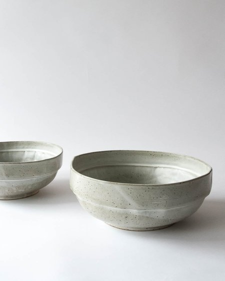 Len Carella x Kettle & Brine Stoneware Satin Bowl - White