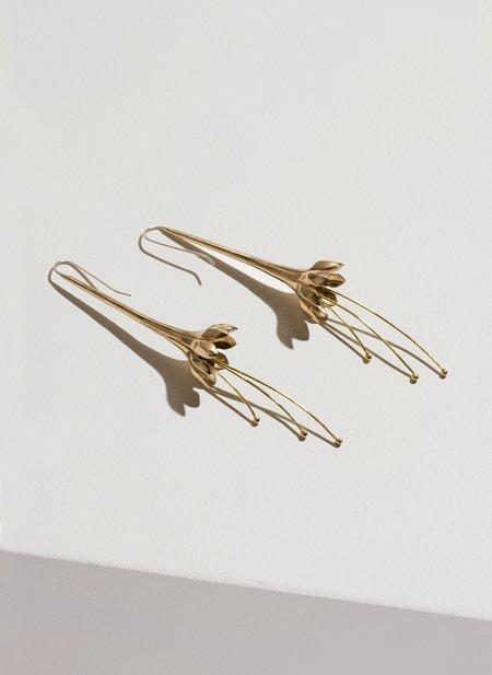 Pamela Love Anemone Earring - Brass