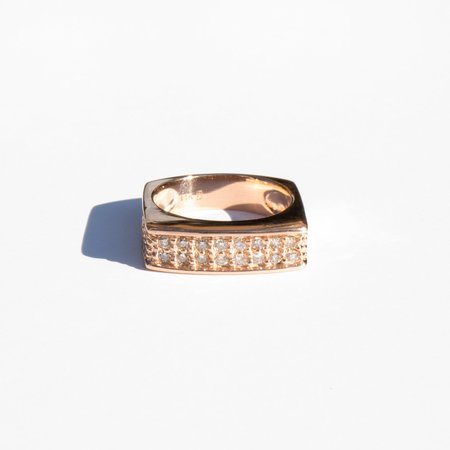 Found By Kindred Black Square Pave Diamond Ring