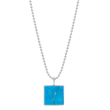 Unisex Tarin Thomas Samuel Necklace - Turquoise