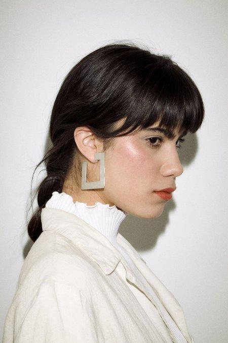 Coyote Negro Cuadro Earrings