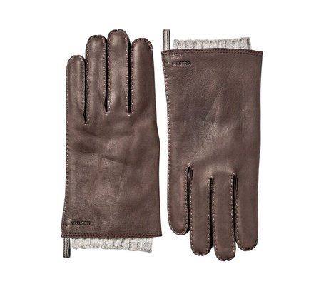 Hestra Tony Leather Glove - Dark Brown
