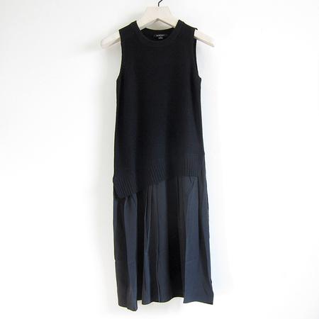Acrobat combination wool/silk shift dress - black