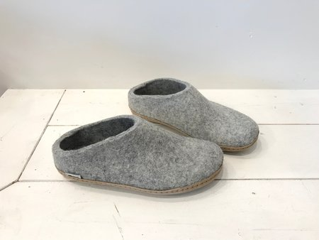 Unisex Glerups Open Heel Wool Slippers in Petrol, Charcoal, Grey and Brown