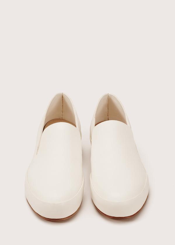 Women's Hand Sewn Slipper - White
